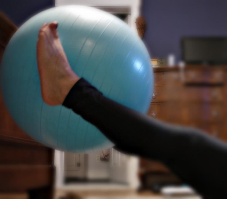 Stability Ball Leg Lifts